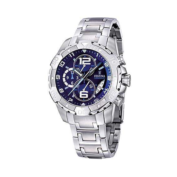 FESTINA F16358/5 - Reloj de Caballero de Cuarzo, Correa de Acero Inoxidable (