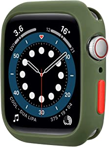 Winsoww Matte Soft TPU Ultra-Thin Case Cover Compatible Apple Watch Series 3 2 1, Olive Green 42MM