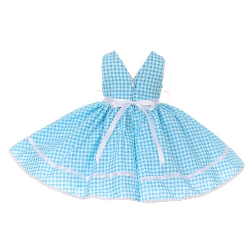 b8cdc1897c7 Amazon.com  Baby Girls Turquoise Checker Print Fit-and-Flare Bonnet Flower  Girl Dress 6-24M  Clothing