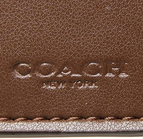 Coach F32485 Medium Envelope wallet in Signature canvas Khaki//Chalk