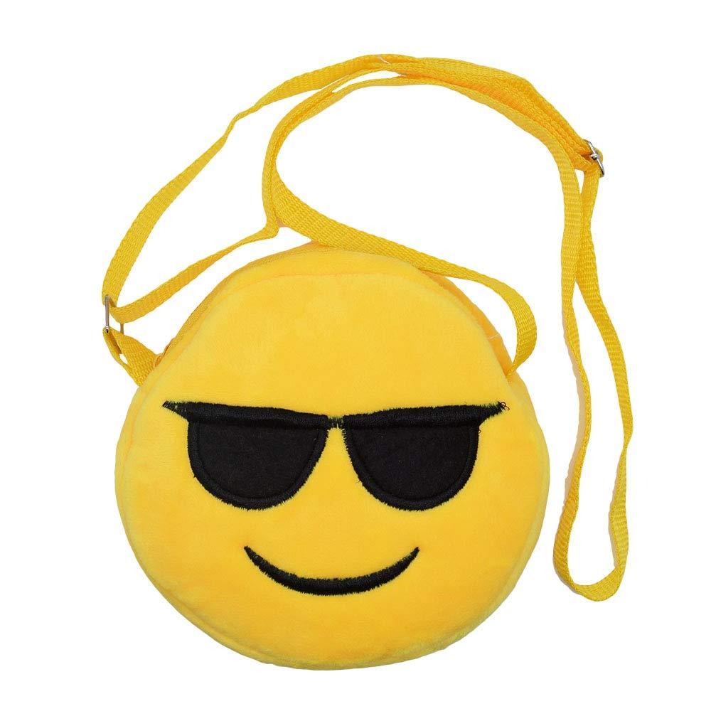 Emoji mignon Mini sac /à bandouli/ère sac /à main sac /à main pour enfants gar/çon filles en peluche pi/èce affaire Cross Body princesse Messenger Bag