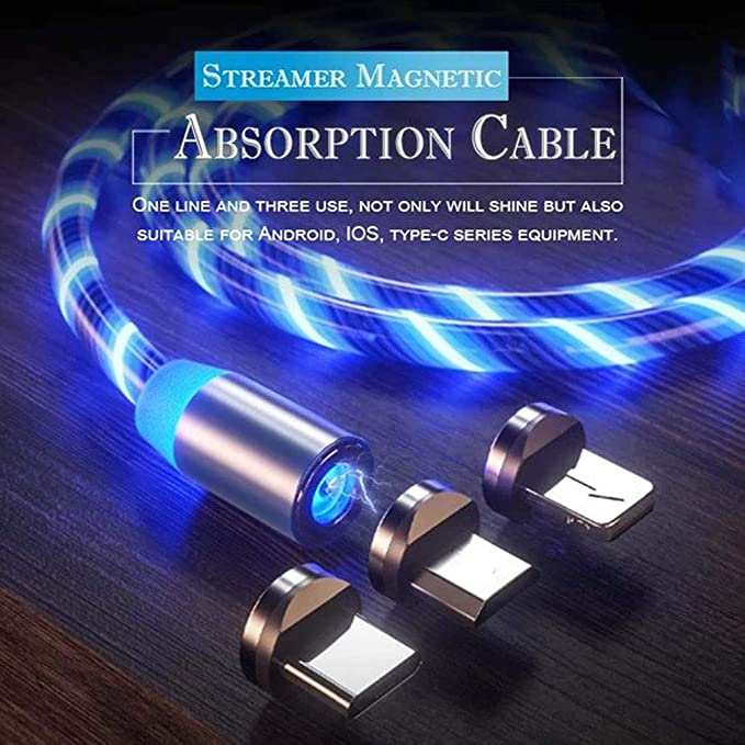 The Neatest Fast Charging Cable for Android 360 Degree Innovative LED Streamer Magnetic Absorption Data Charger-Cable