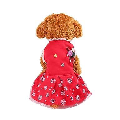Ropa para Mascotas,Dragon868 Navidad Copo de Nieve Vestido de Perro Mascota Hembra: Amazon.es: Ropa y accesorios