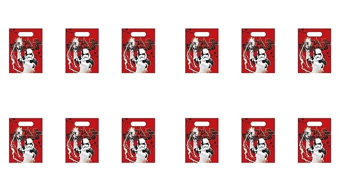 PEQUEFIESTA 00456; Pack 12 Party Bag Disney Star Wars; Rojas ...