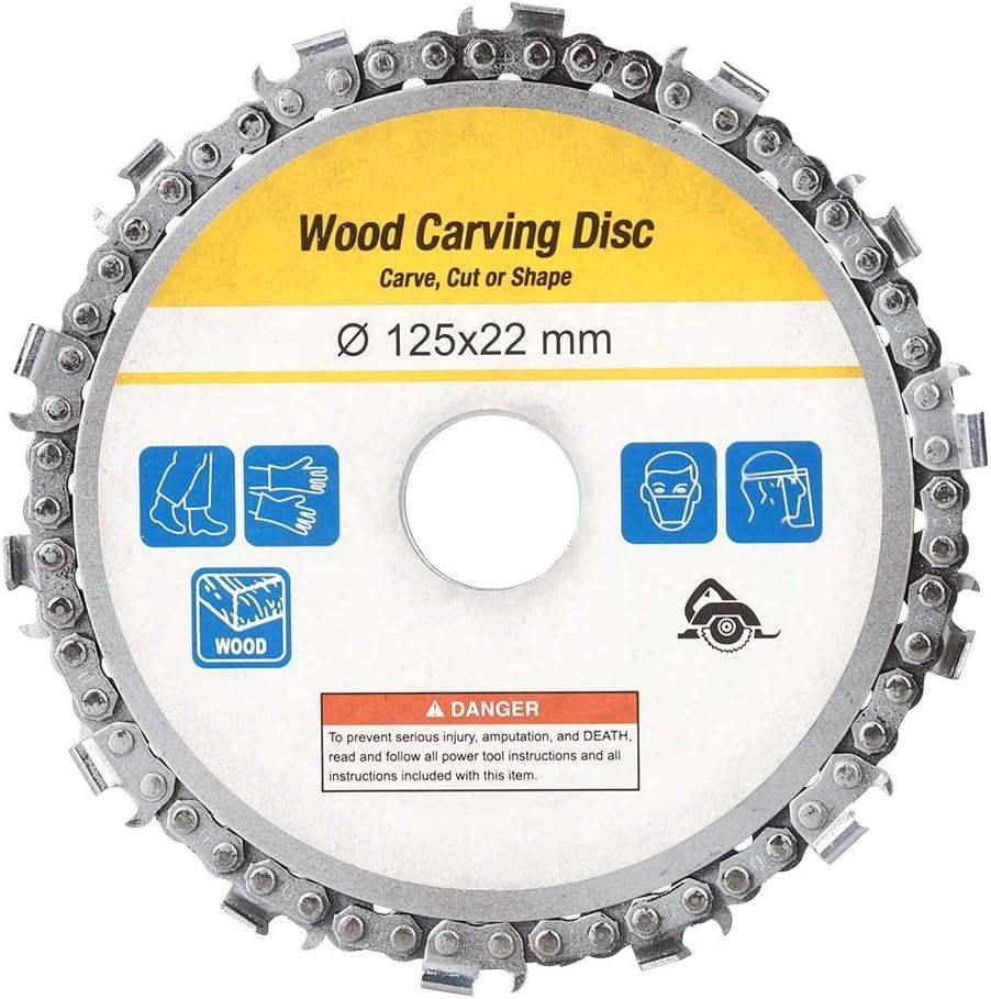 Disco de cadena de 14 dientes, amoladora angular Disco de cadena Disco de talla de madera Herramientas de corte y ajuste de talla de madera Accesorios de sierra circular