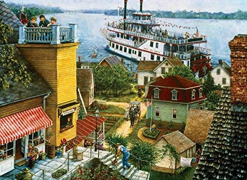 SUNSOUT INC Paddle Boat Landing 500 pc Jigsaw Puzzle by SUNSOUT INC