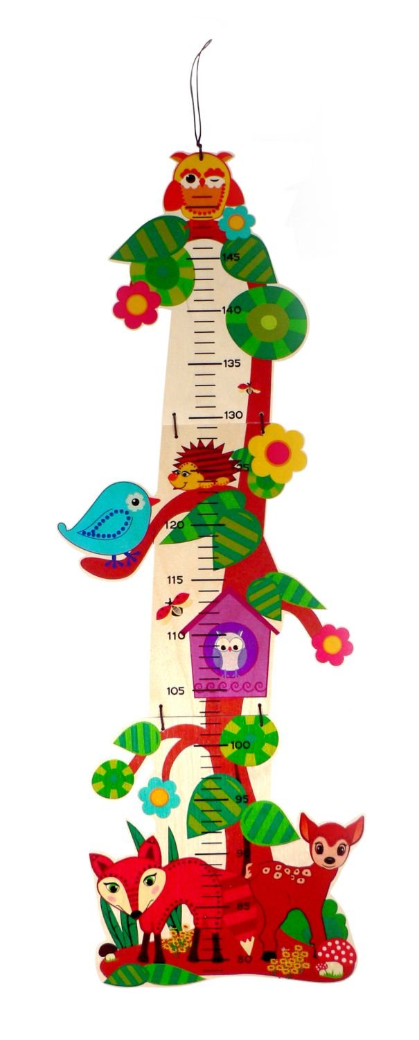 Hess Polypropylene Forrest Animals Growth Chart Baby Toy, 74 x 13 cm 14624.0