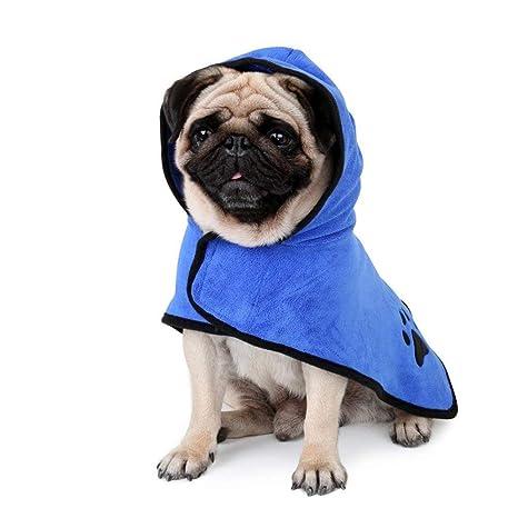 Liboom Albornoz para Mascotas de Microfibra y Hidrófugo Súper Absorbente con Secado Rápido Hidrófugo Toalla Súper