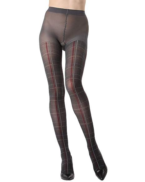 78bdc51ad MeMoi Pretty in Plaid Opaque Tights | Womens Hosiery-Pantyhose Dark Gray  MTO02209 S/