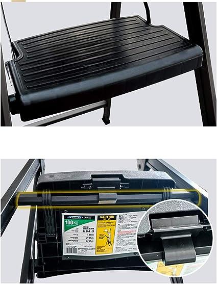 Noir marches /à Large Plate-Forme capacit/é de 100 kg escabeau CXLO /Échelle en Aluminium 4 marches Pliant Outils pour int/érieur ext/érieur avec poign/ée