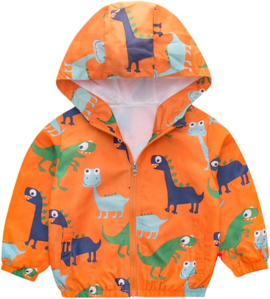 1~6Years TOTAMALA Autumn and Winter Toddler Kids Girls Boys Long Sleeve Cartoon Windproof Coat Hooded Outwear Jacket