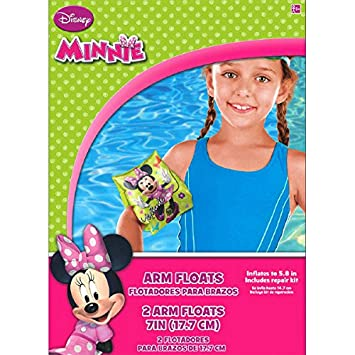 Amazon.com: Disney Minnie Mouse Plastic Arm Floats Swimming Party 2 Pairs (Plus Party Planning Checklist by Mikes Super Store): Toys & Games