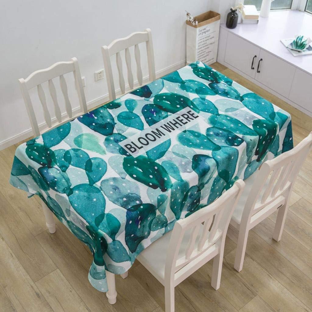 QYM テーブルクロスコットンリネン新緑防水長方形のシンプルな布のコーヒーテーブルダイニングテーブルクロス (Color : 005, サイズ : 140*180cm) 140*180cm 5 B07S7NBWGL