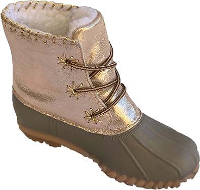 a8cba2c37b0b Amazon.com | Botique Girls Duck Boot with Metallic | Boots
