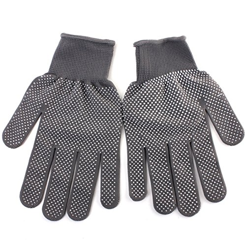 Health & Beauty - Hair Styling Tools - 2 Pairs Grey Heat Resistant Finger Glove Hair Straightener Perm Curling Hairdressing Hand Protector from Isali Health & Beauty