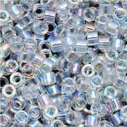 Miyuki Delica Seed Beads 10/0 Crystal AB DBM0051 8 Grams - Delica Bead Loom