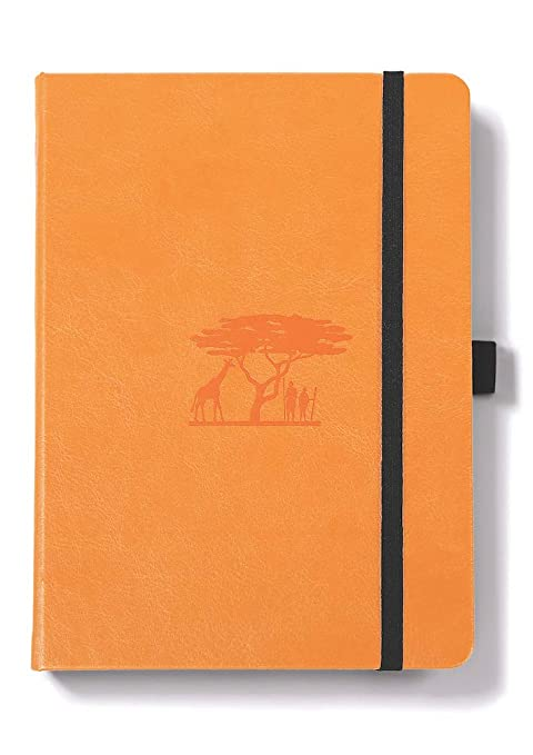 Dingbats Wildlife Medium A5+ (6 3 x 8 5) Hardcover Notebook - PU Leather,  FP Proof 100gsm Coated Cream Paper, Numbered Pages, Inner Pocket, Elastic