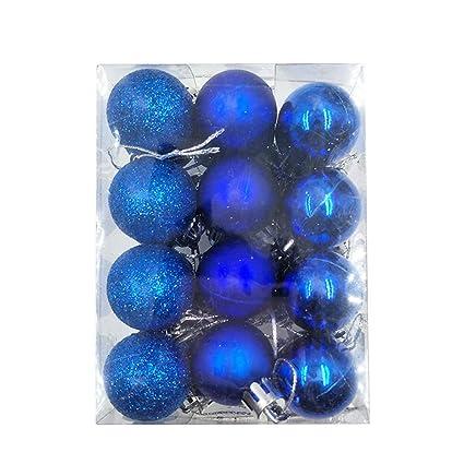 Amazon Com Huijia 24 Pcs Christmas Balls Ornaments For Xmas Tree
