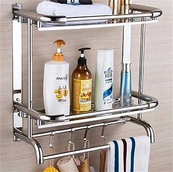 Quesuc 1 estante de ducha ajustable universal montado en la pared soporte de almacenamiento universal para ba/ño medio amarillo estante de ducha giratorio ajustable de 360 /°