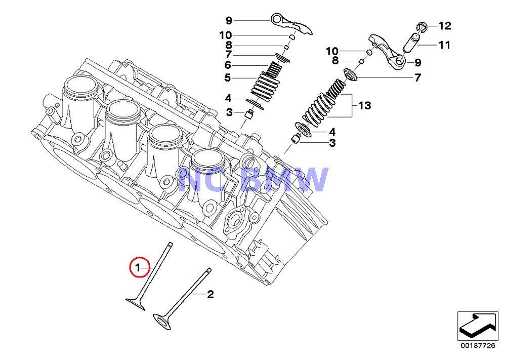 8 X BMW Genuine Motorcycle Timing Gear Intake Valve A15 K1200S K1300S K1200R K1200R Sport K1300R K1200GT K1300GT