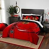 """Northwest NOR-1NHL836000004BBB 76"""" x 86"""" Chicago Blackhawks NHL Soft & Cozy Full Comforter Set"""