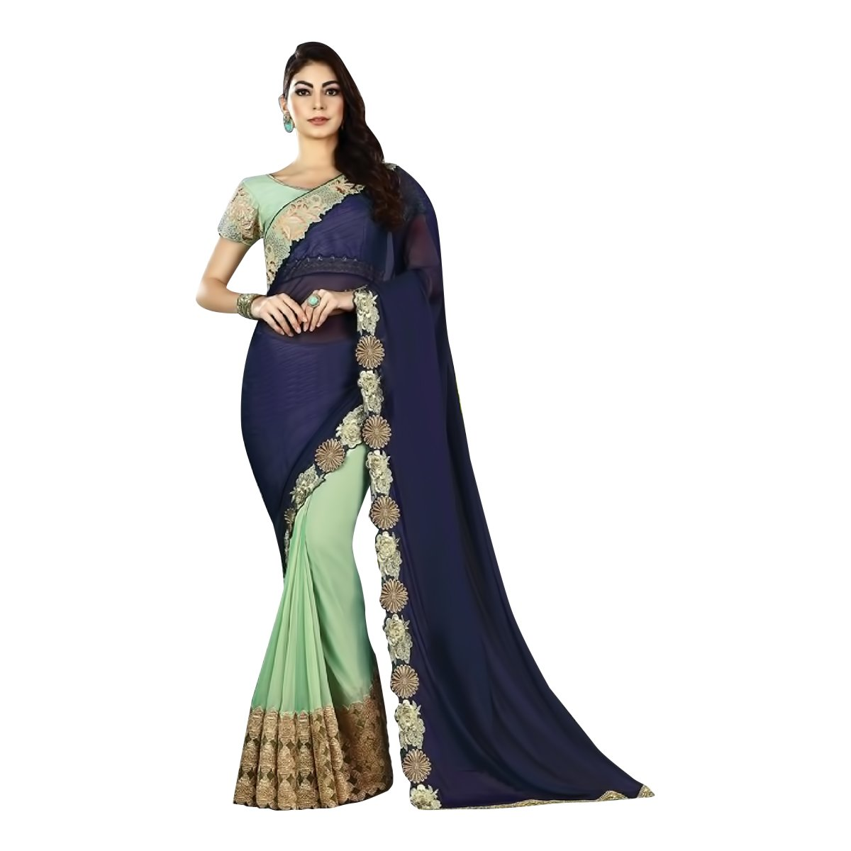 Designer RichLook Party Wear Indian Saree Wedding Bridal Suit Lehenga Women Dress 506