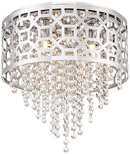 Possini Euro Corrina 12 3/4 Wide Chrome Drum Ceiling Light Possini Euro 3 Light