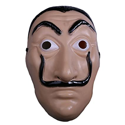 nihiug House of Notes Dali Mask La Casa De Papel Card House Halloween Props Cosplay,