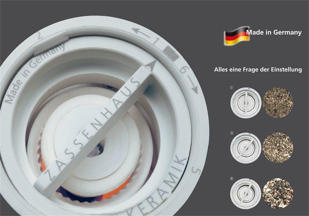 Zassenhaus''Frankfurt'' Olive Wood Ceramic Salt & Pepper Mill, One Each Set by Zassenhaus (Image #4)