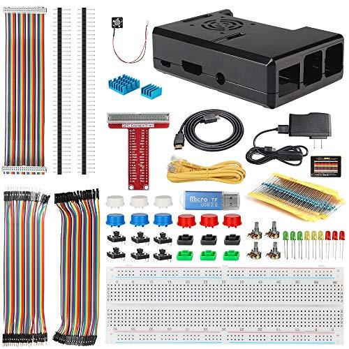 HSU Accessories Kit for Raspberry Pi,Basic Learning Kit for Raspberry Pi(Without Pi Model)