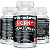 Super Strength 1000mg Horny Goat Weed 120 Capsules with Maca Arginine & Ginseng - Naturally Boost Your Sexual Health, Libido, Stamina, Endurance, Testosterone & Energy for Men & Women (120C)