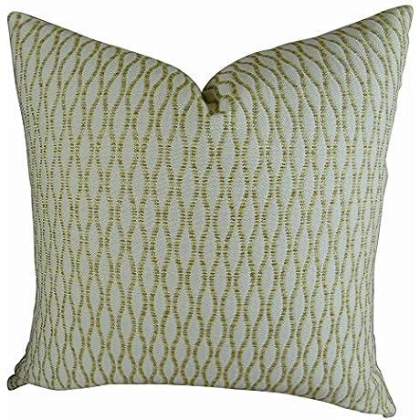 Plutus Brands Plutus Winding Road Zest Handmade Throw Pillow 20 X 36 King Cream Gold