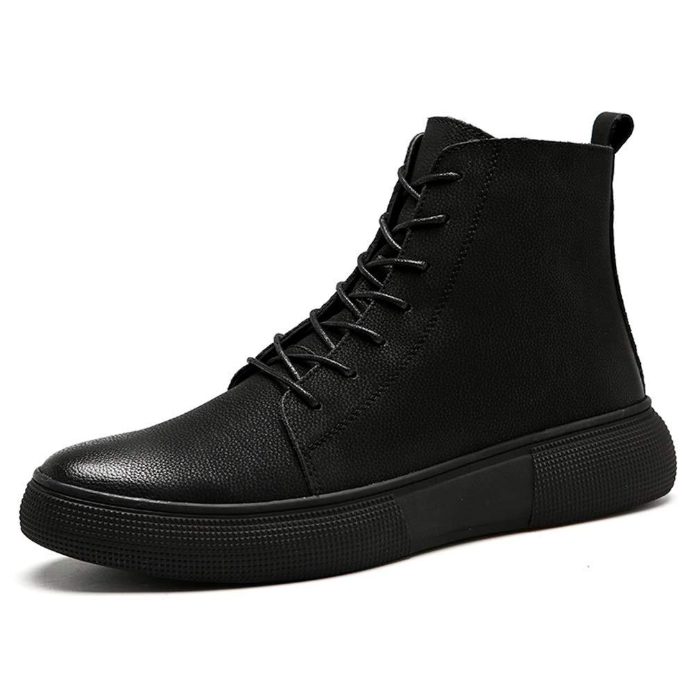 QIDI Martin Kurz Männer Schuhe Hohe Hilfe Freizeit Warm Halten Draussen Bewegung Stiefel (Farbe   T-1, größe   US10.5 EU42 UK8.5)