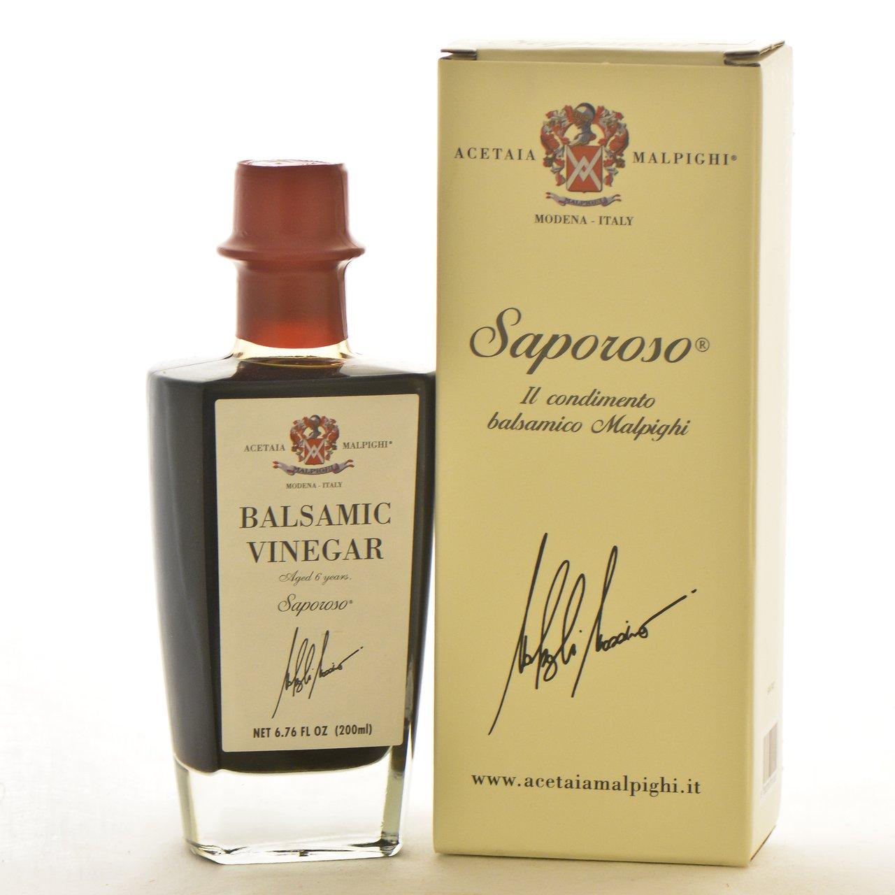 Malpighi Saporoso Balsamic ''6 Year'' - 6.7oz. Bottle