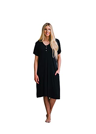 9610c710345bd Undercover Mama House Dress Luxury 24-7 Maternity & Nursing Gown at ...