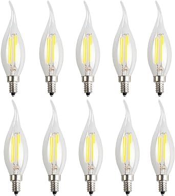 10X E14 Filamento LED Bombilla Edison 4W Filamento Bombilla Super ...