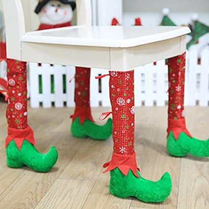 christmas decorationsieason christmas decorations christmas restaurant bars chairs feet sets of stools red - Restaurant Christmas Decorations