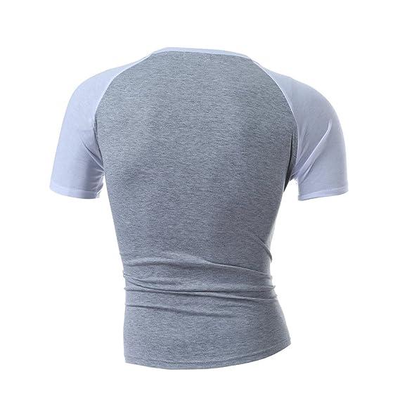 Camiseta de Manga Corta con Cuello en V para Hombre de Camuflaje Casual con Cuello en V de Manga Corta de algodón de Internet.: Amazon.es: Ropa y accesorios