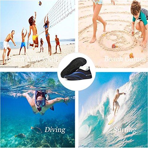 and Men Anti Slip Black Aqua blue Shoes Shoes Skin Multifunctional Barefoot For Women LYZ Water qvwRPR