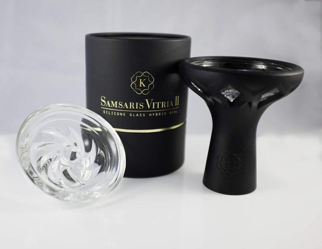Kaloud Samsaris Vitria II Glass and Silicone Hookah Bowl Perfect for Kaloud Lotus