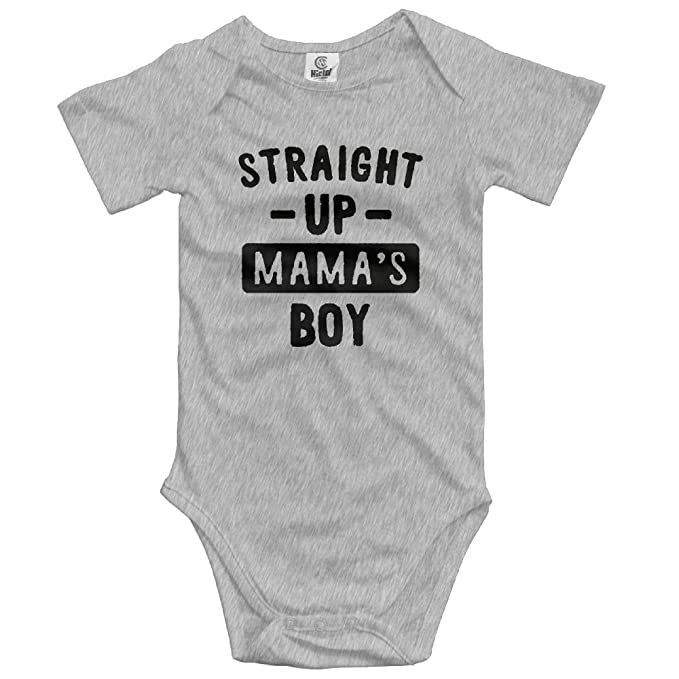 1704229f3b09 Image Unavailable. Image not available for. Color  Straight Up Mama s Boy  Summer Baby Sleeveless Romper One-Piece Bodysuit Jumpsuit Outfits