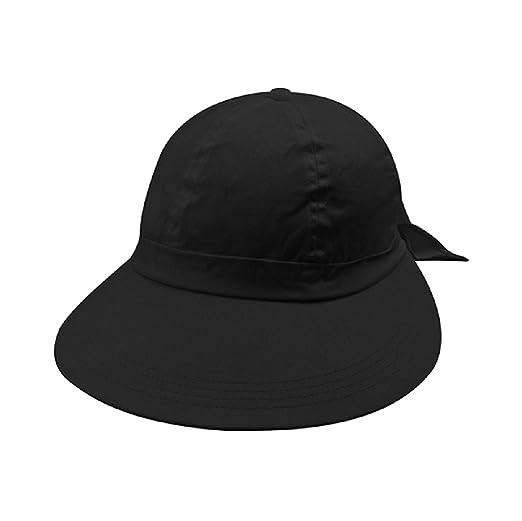 ece0245fffc6d Image Unavailable. Image not available for. Color  Mega Cap Black Wide Brim  Peak Gardening Sun Hat