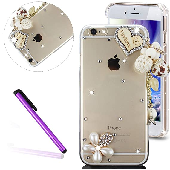 6S Plus Case iPhone 6S Plus Case EMAXELER Bling Swarovski Crystal Rhinestone  Diamond Clear Slim Premium 728d3cb1e
