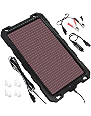 Solar Car Battery Trickle Charger, 12V 1.8W Solar Battery Charger Car, Waterproof Portable Amorphous Solar Panel For Automotive, Motorcycle, Boat, Atv,Marine, RV, Trailer, Powersports, Snowmobile, etc.