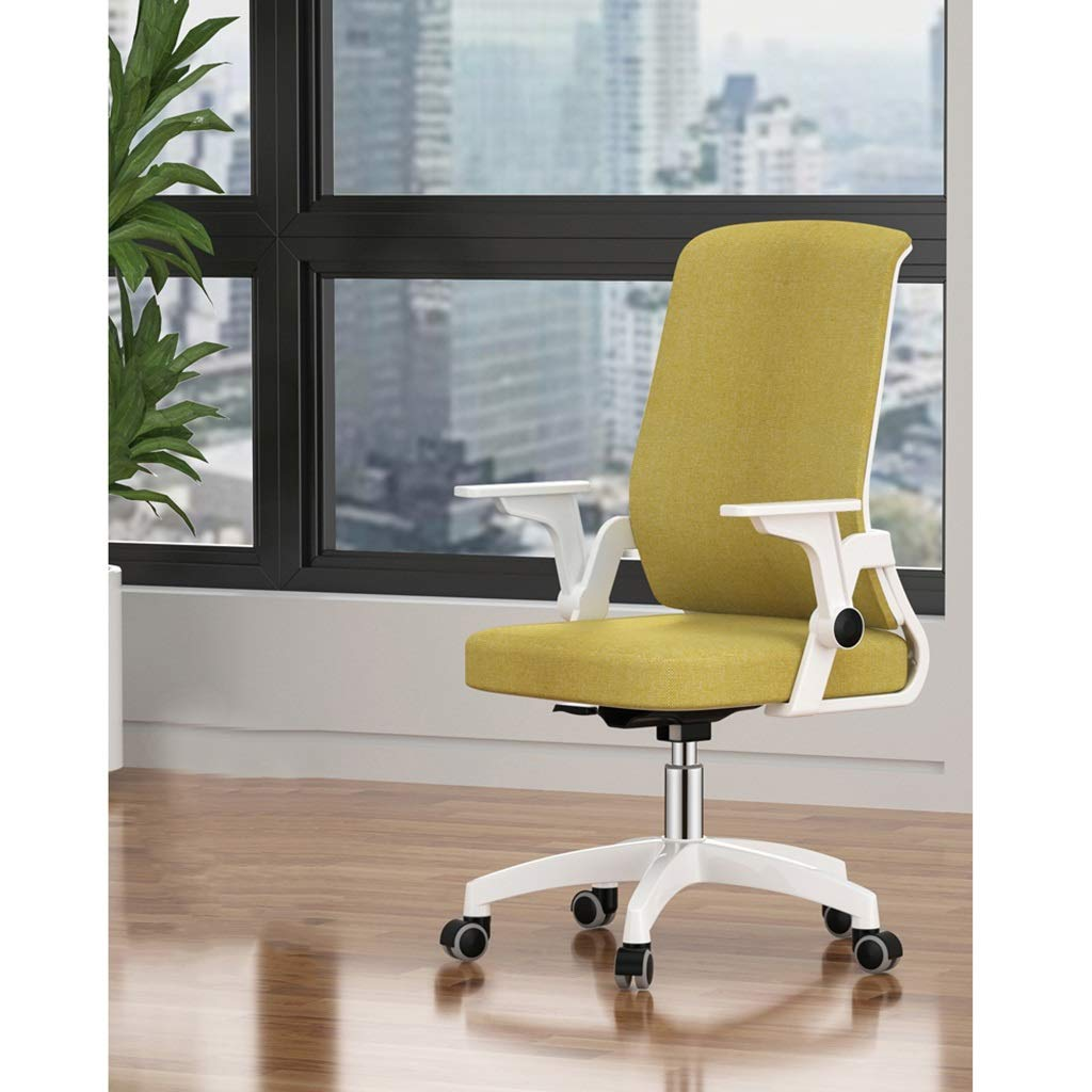 HWH- Swivel dator skrivbordsstol, bekväm mjuk stol lyft kontor personalstol student sovsal stol grön/brun/svart Sedia del dator Svart Svart