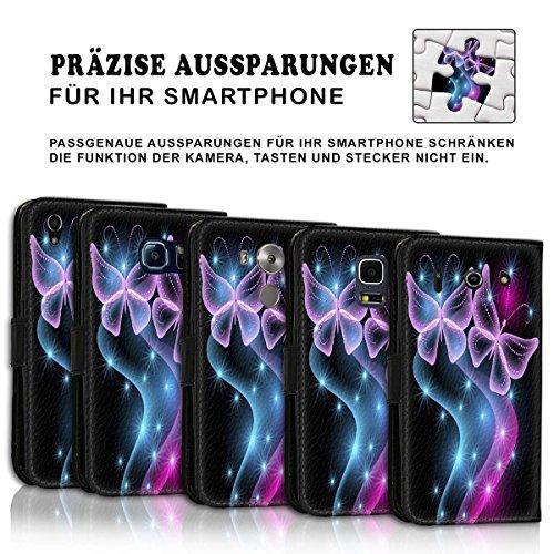 Wallet Book Style Flip Handy Tasche Case Schutz Hülle Schale Motiv Etui für Apple iPhone 6 Plus / 6S Plus - Design Flip MVD321