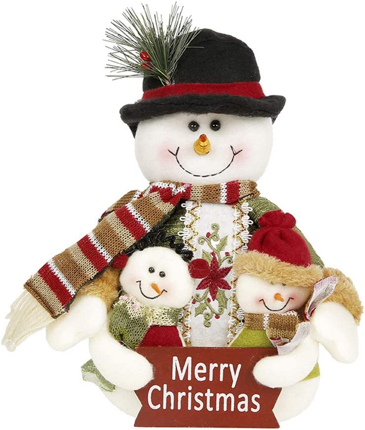 Tvoip Christmas Decor Dolls Santa Claus Snowman Hanging Ornaments Table Decorations Gift (Christmas Snowman)