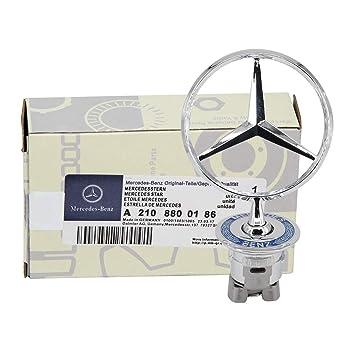 Amazon.com: Ruanye para Mercedes Benz Hood Star Emblema W124 ...