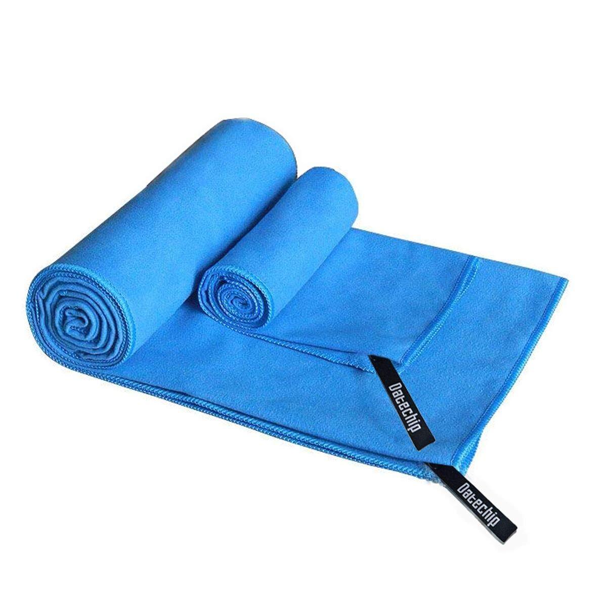 Suave toallas de microfibra deportes de Set–datechip toalla Super absorbente toalla de playa, grande de viaje ligero y de secado rápido para hombres mujeres, incluyendo bolsa de almacenamiento, Blue-Gray
