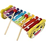 Yoyorule Baby Kid 8-Note Xylophone Musical Toys Wisdom Development Wooden (Tiger)